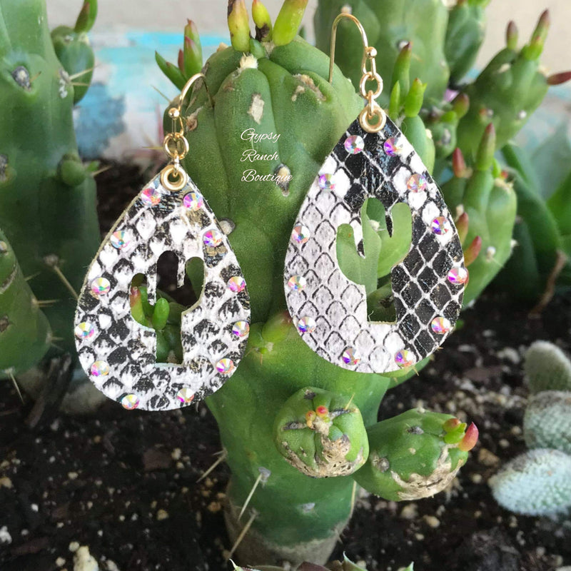Cactus Teardrop Earrings - 4 color options