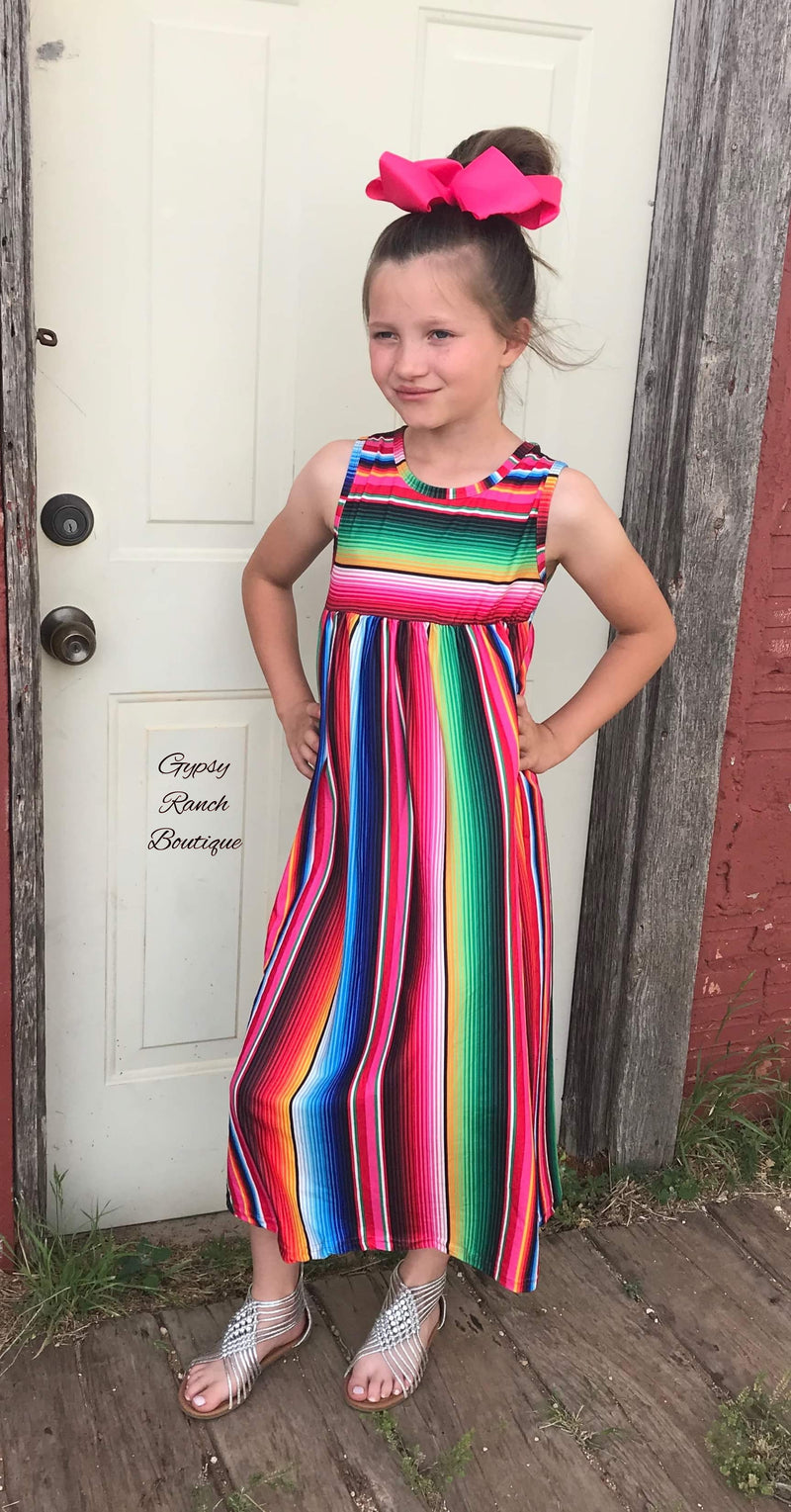 Aubrey Serape Maxi Dress - Kids