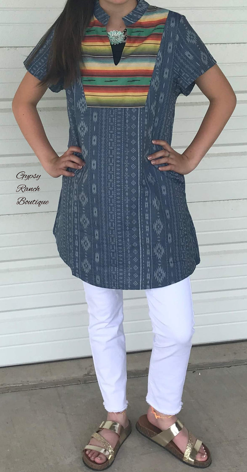 Laney Serape Aztec Tunic Top - Also in Plus Size