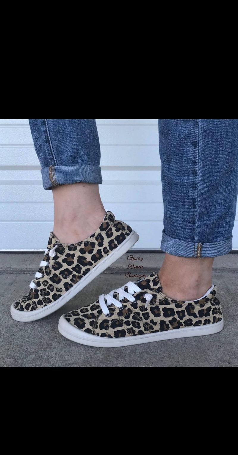 Taylor Leopard Slip on Shoes