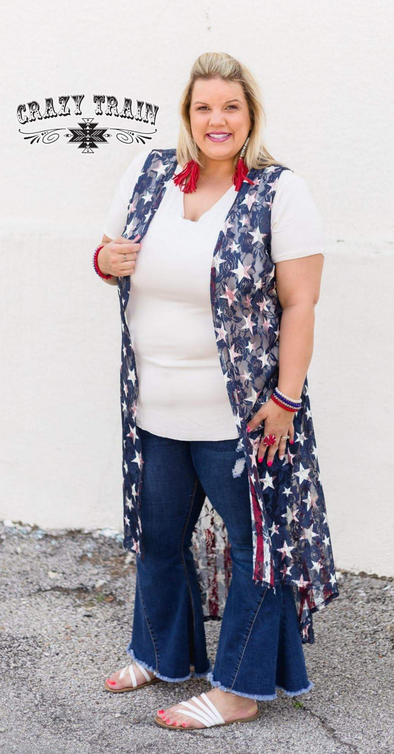 Liberty Reversible Vest Duster - Also in Plus Size