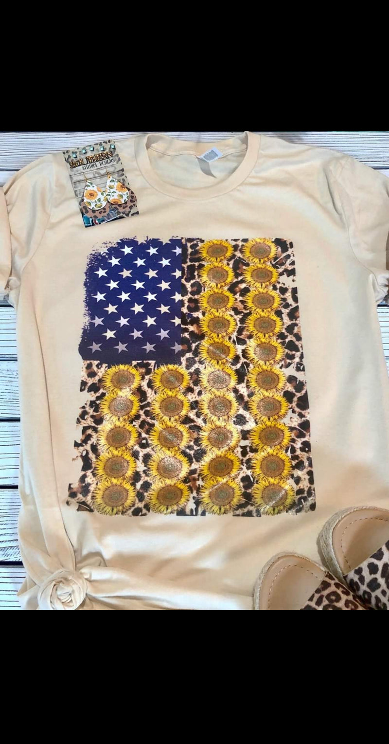 Sunflower Flag Top - Also in Plus Size