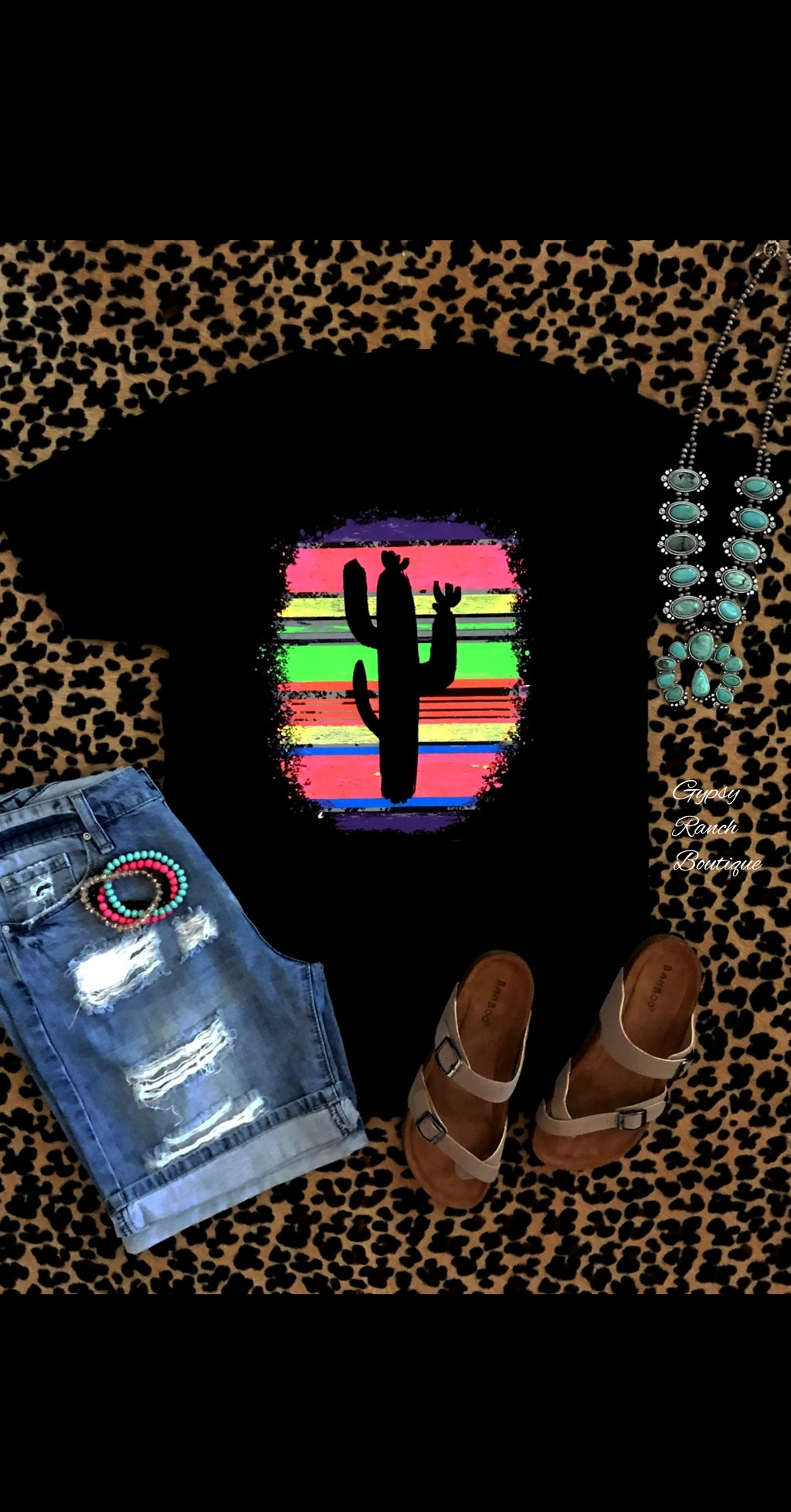 Neon Serape Cactus Top - Also in Plus Size