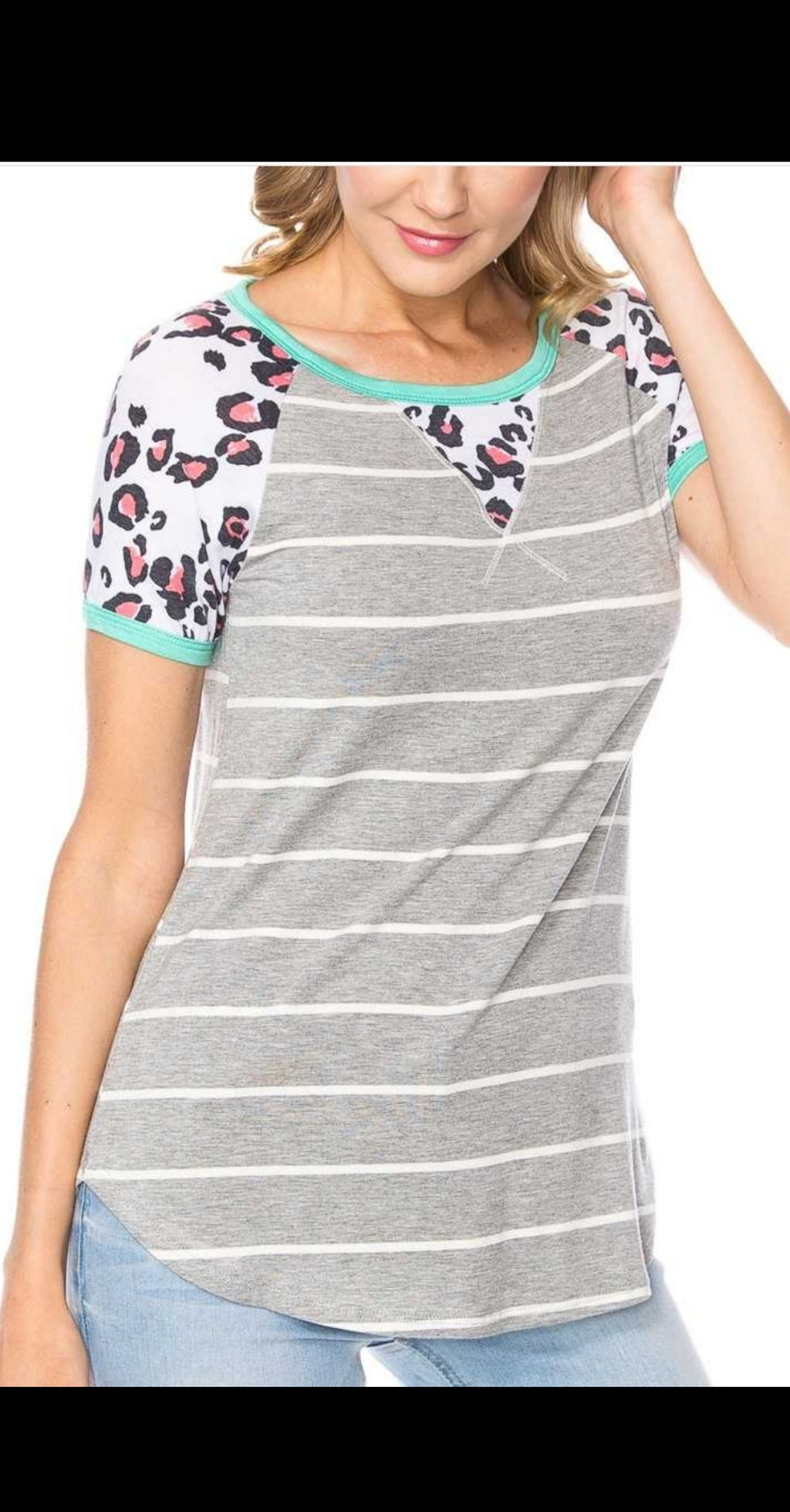 Canyon Leopard Stripe Top