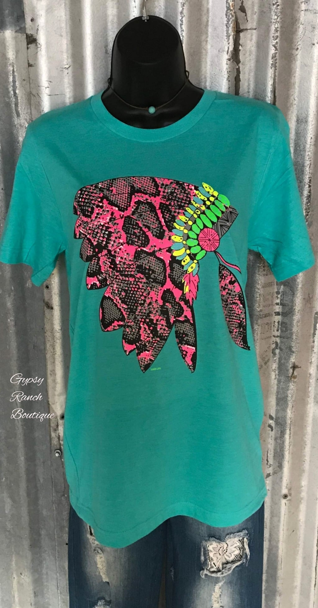 Neon Snake Headdress Top - Also in Plus Size