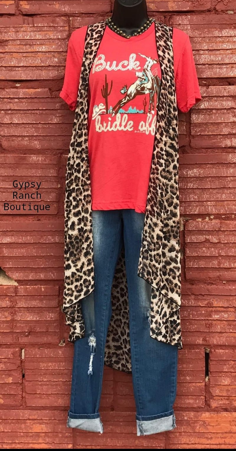Remi Leopard Vest-Also in Plus Size
