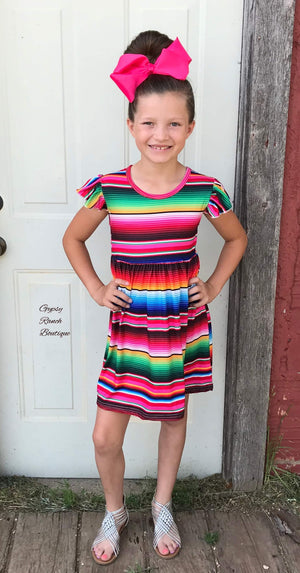 Aubrey Serape Dress - Kids