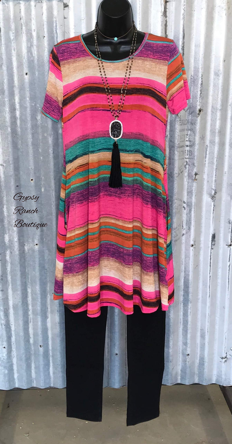 Tori Serape Tunic Top - Plus Size