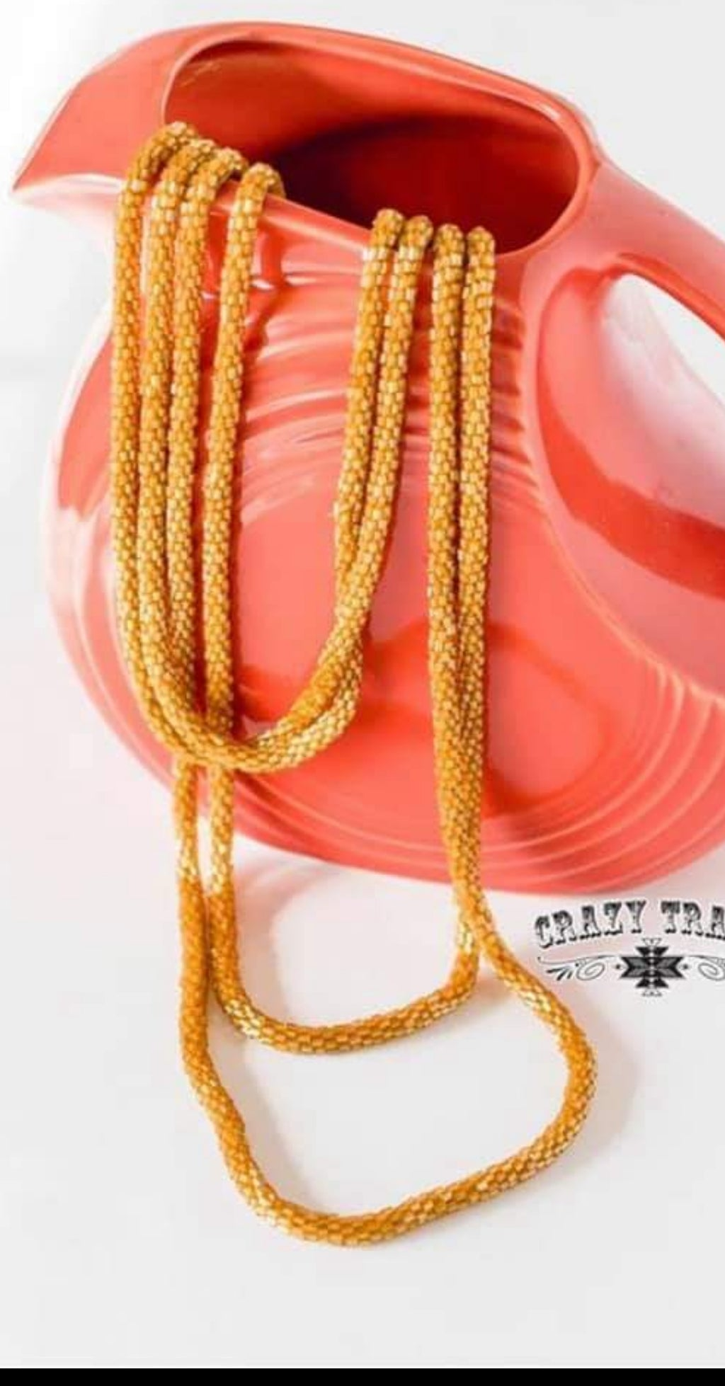Loopity Loo Layered Mustard Necklace