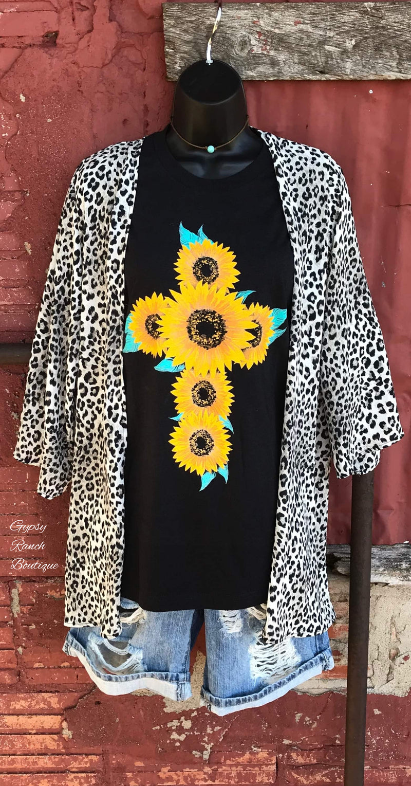 Detroit Heights Leopard Kimono Cardigan -Also In Plus Size