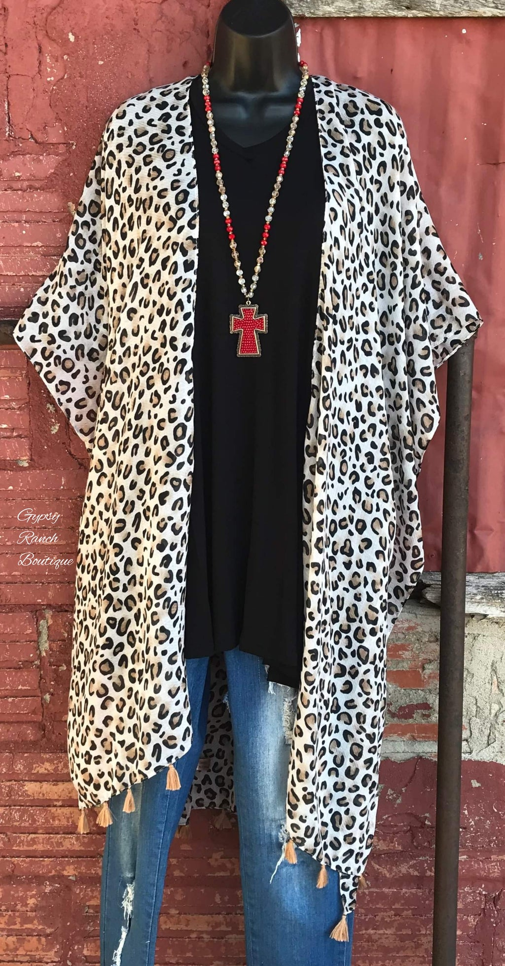 Pretty in Leopard Kimono -  Also in Plus Size