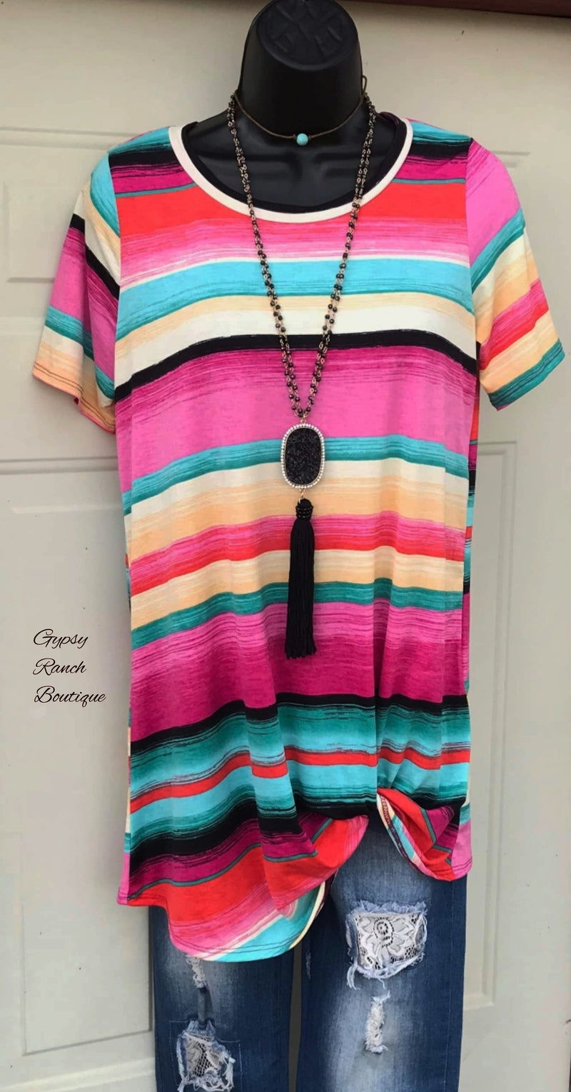Capitan Serape Twist Top - Also in Plus Size