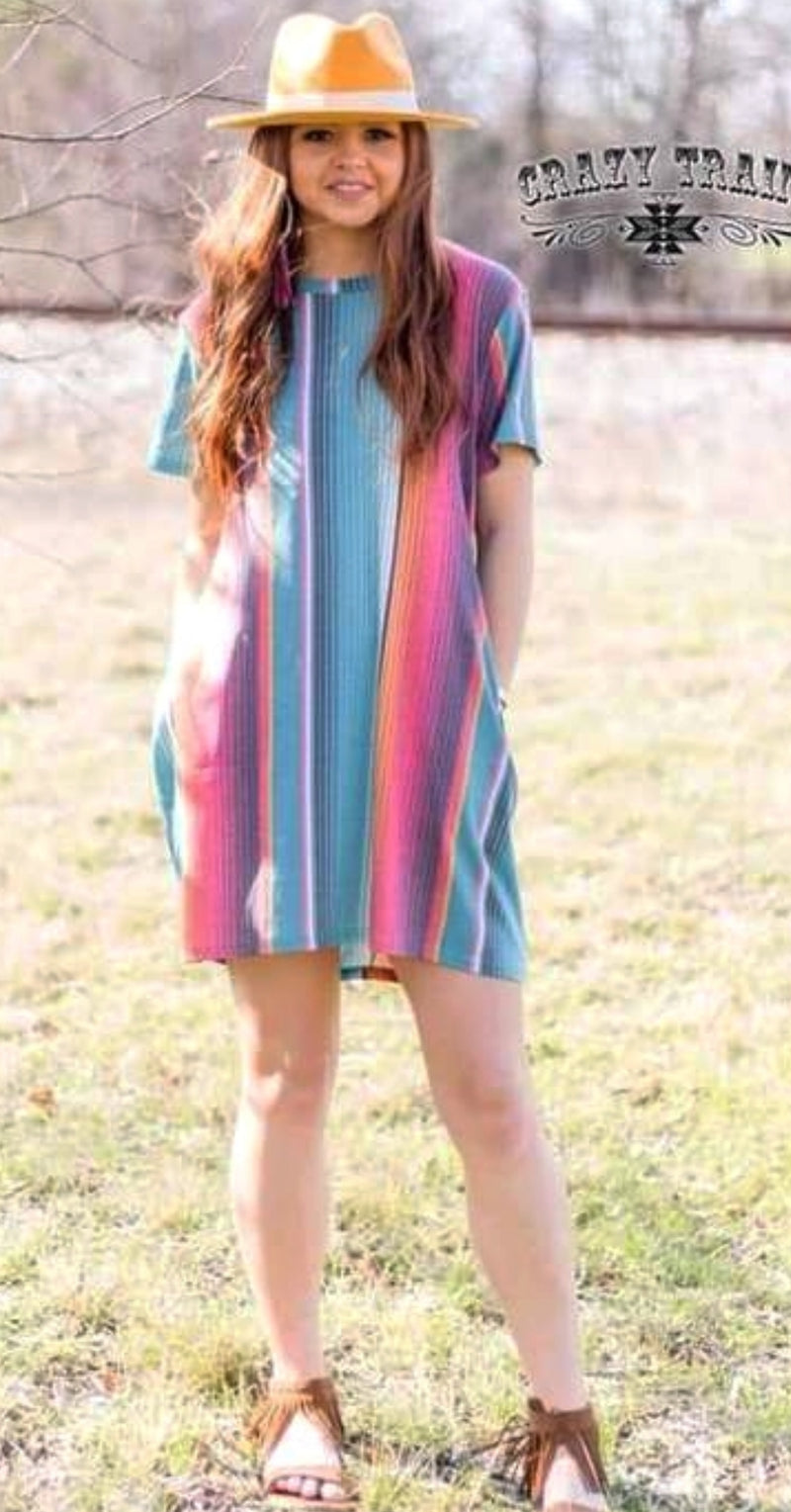 Sabado Serape Dress - Also in Plus Size