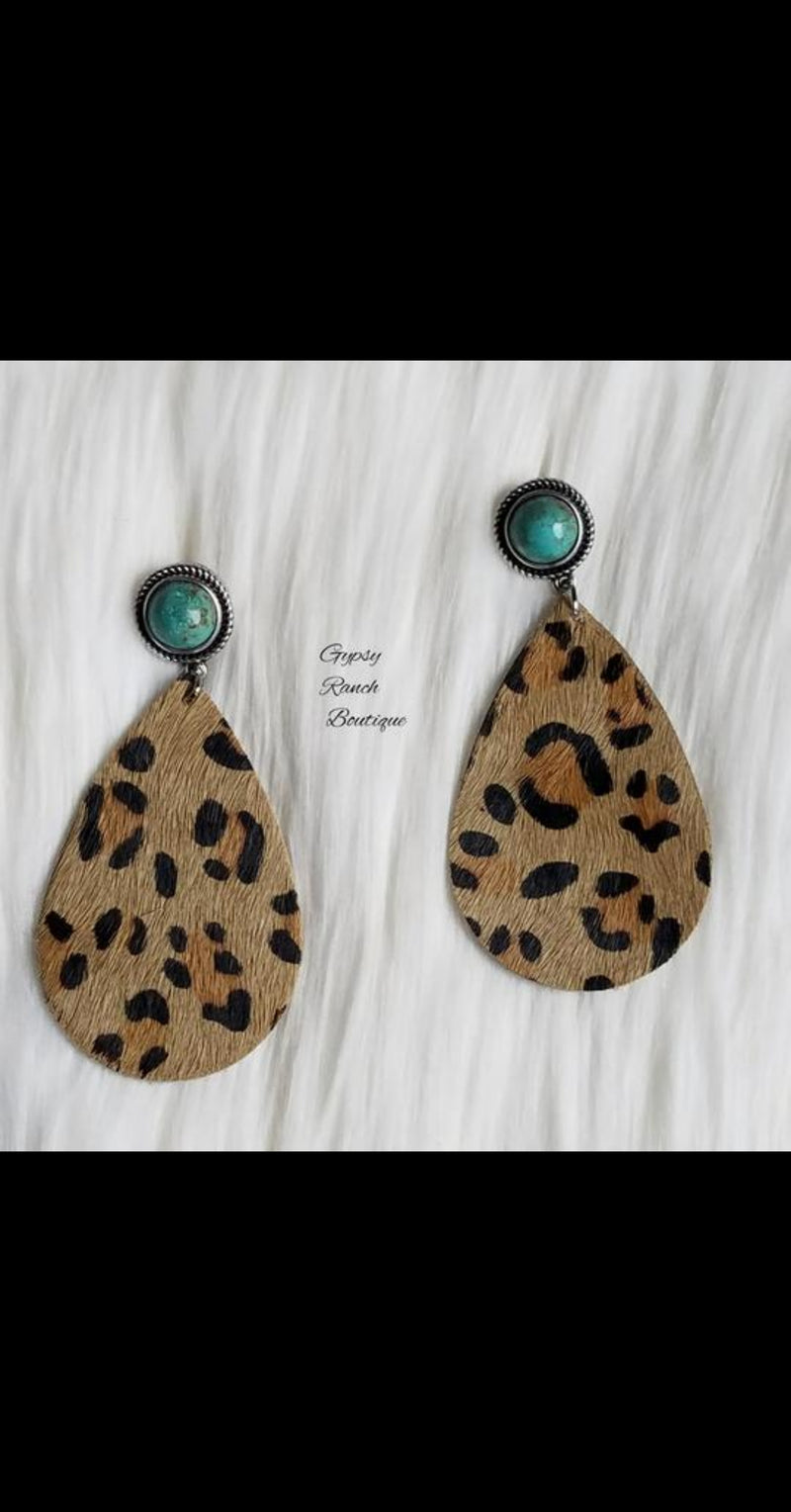 Southern Attitude Leopard Earrings
