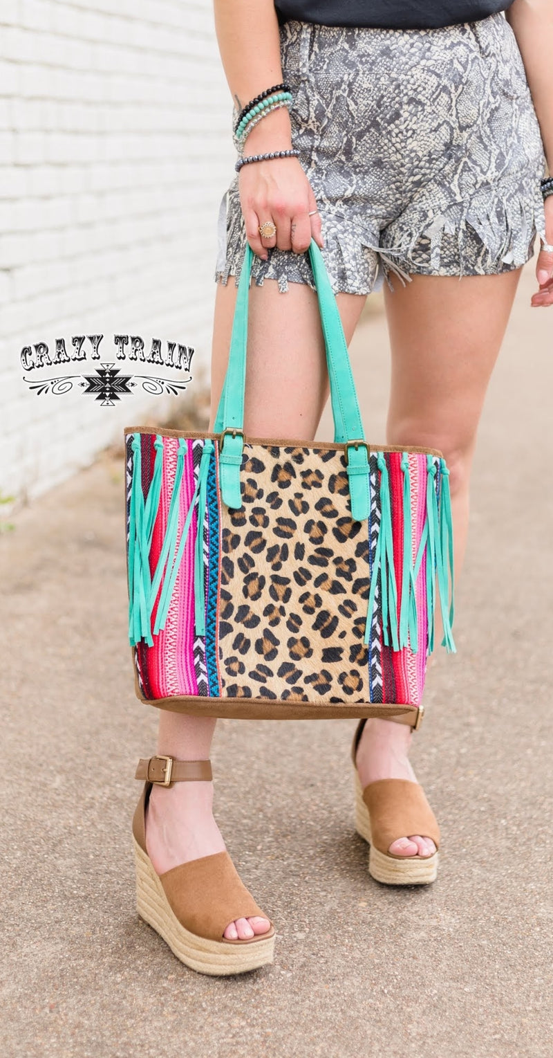 You Best Belize Serape Leopard Purse