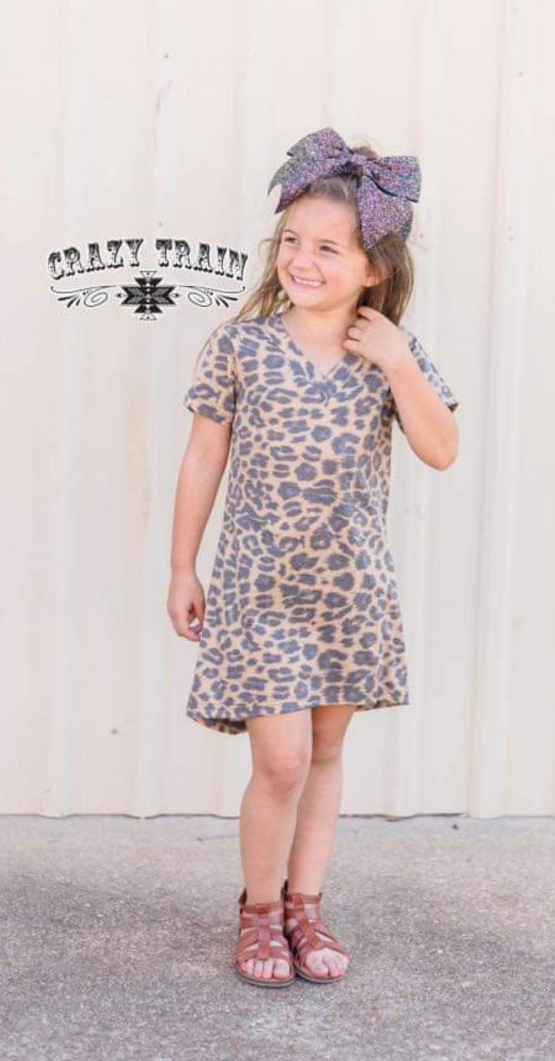 Kids Dallas Leopard Dress