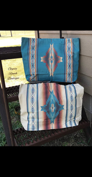 Southwest Dreams Tribal Canvas Totes