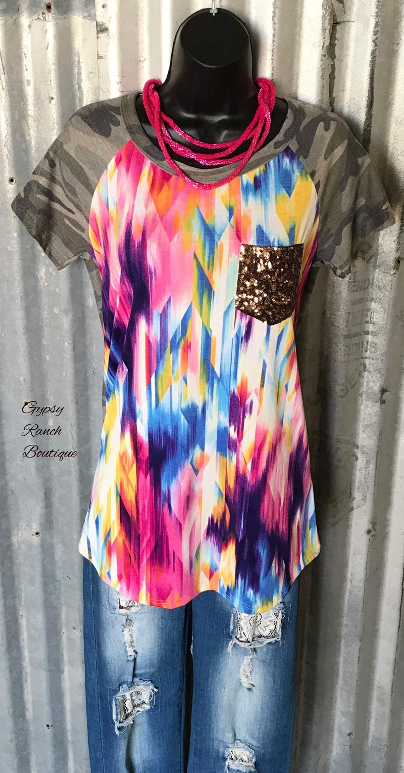 Watercolor Camo Top - Also in Plus Size
