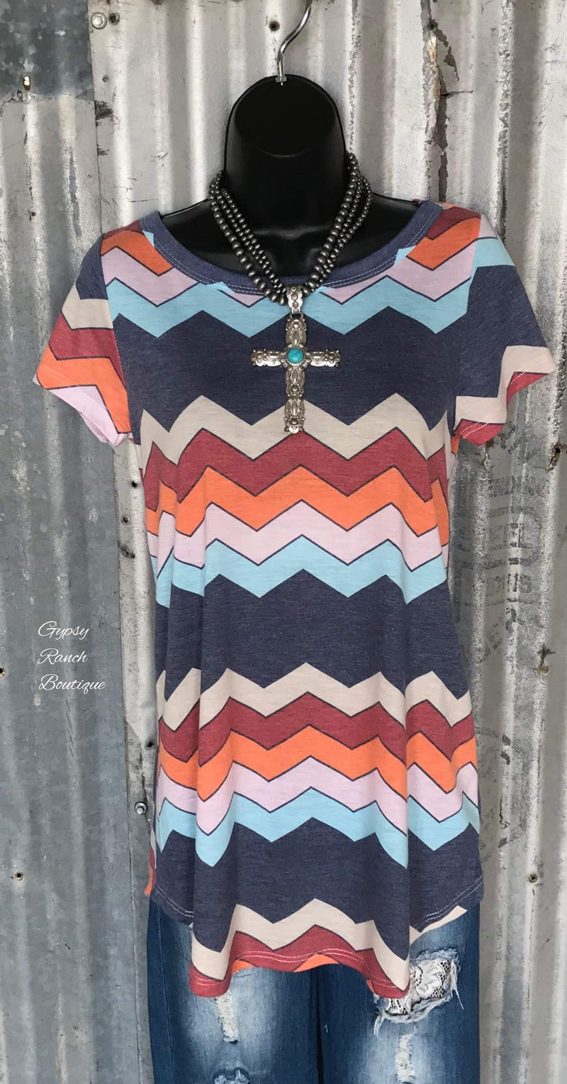 Hico Chevron Top - Also in Plus Size