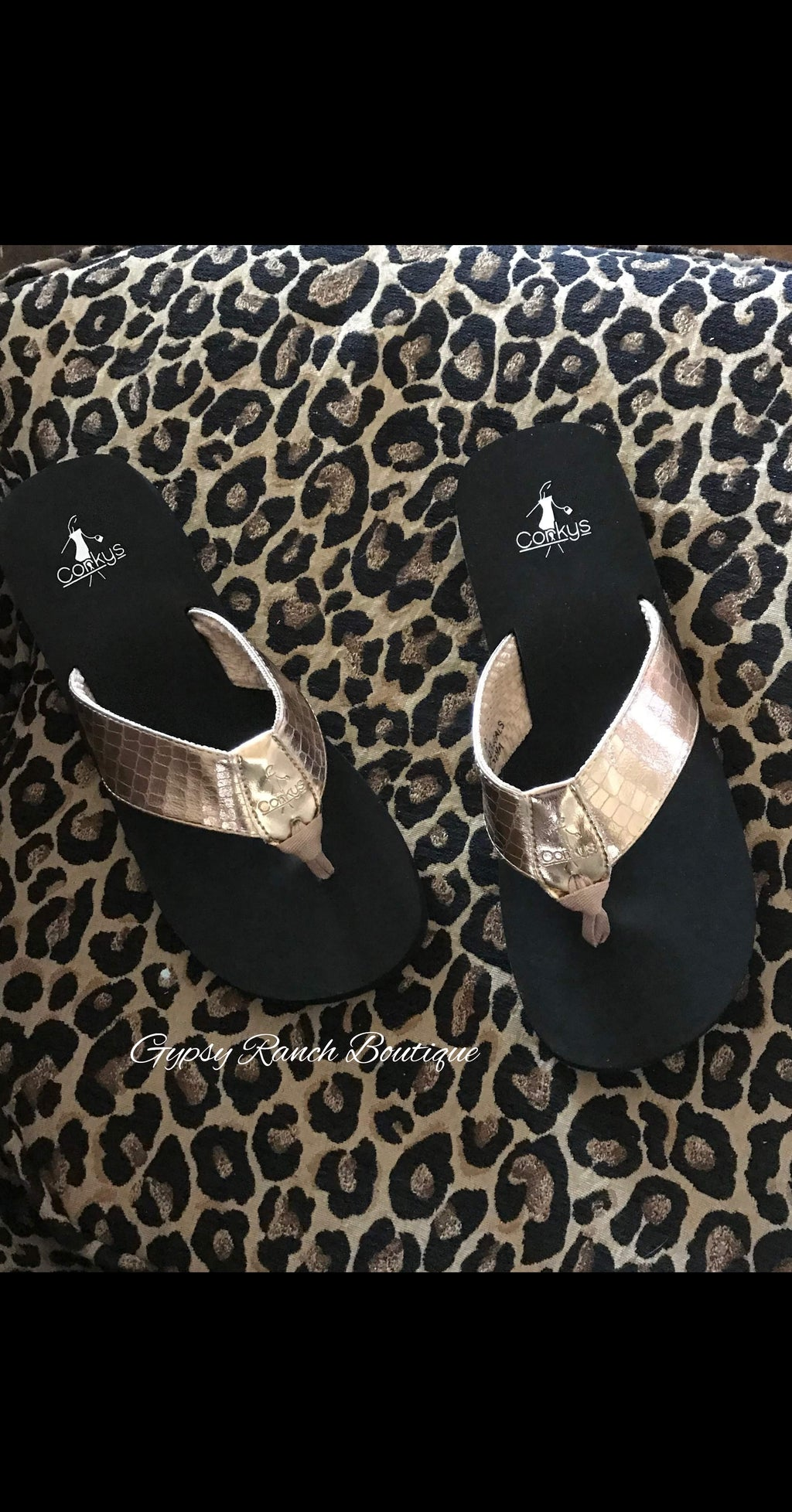 Rose Gold Corky Sandals