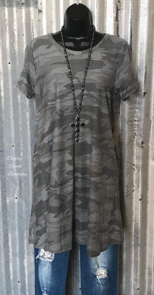 Meredithe Camo Dress - Also in Plus Size