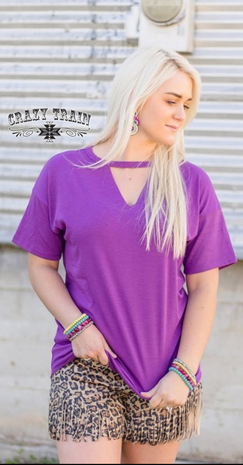 Purple Texline Top - Also in Plus Size