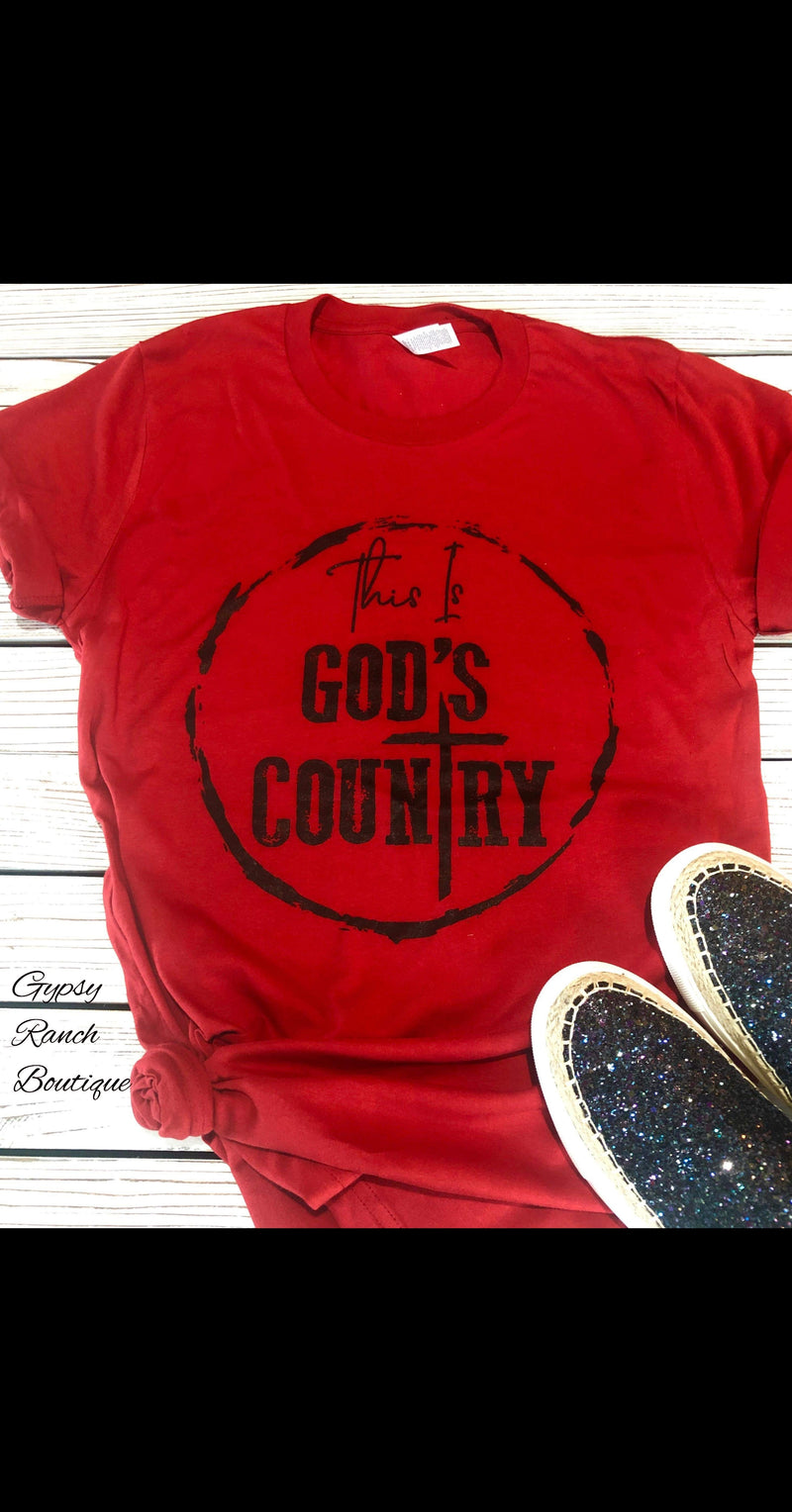 This is Gods Country Top - Also in Plus Size