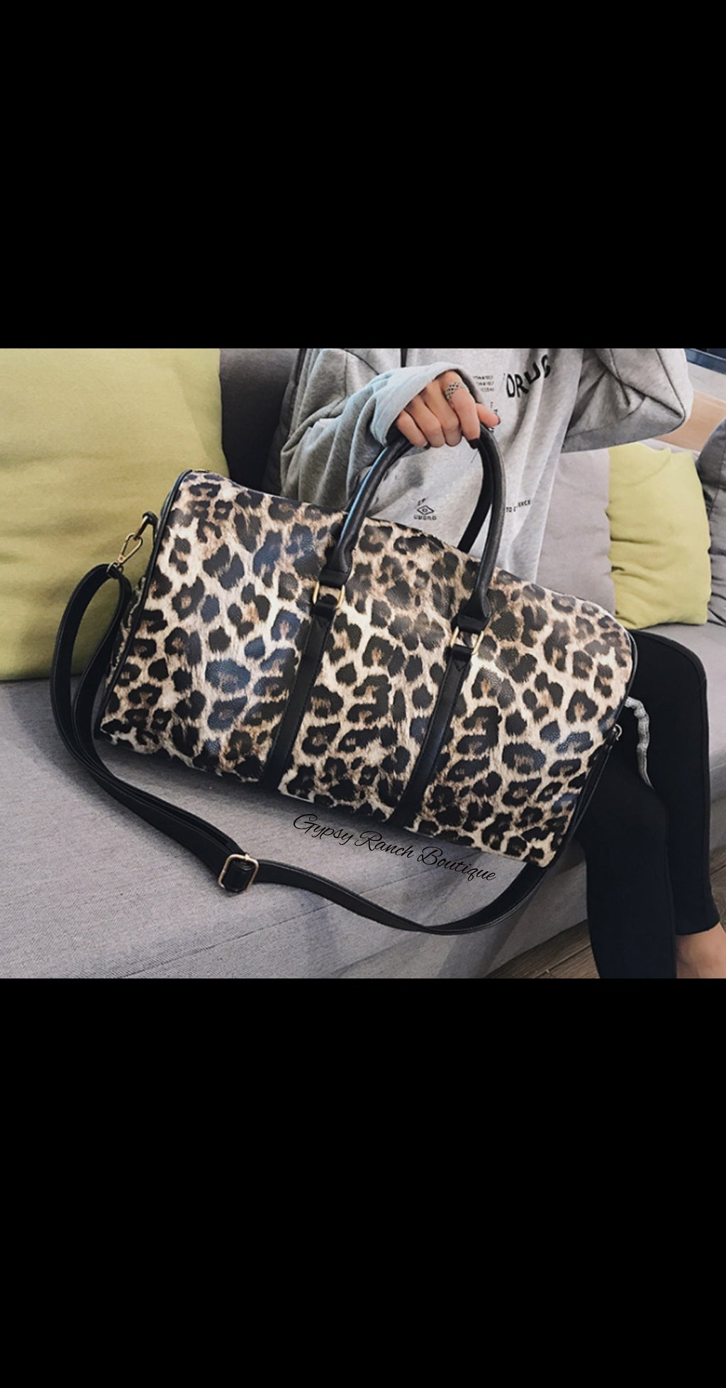 Chandler Leopard Duffle Overnight Bag