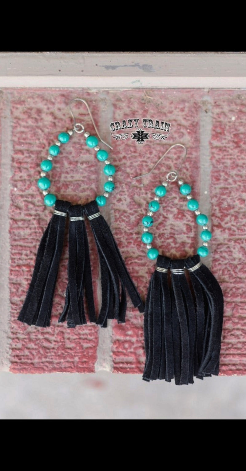 Trail of Turquoise Earrings