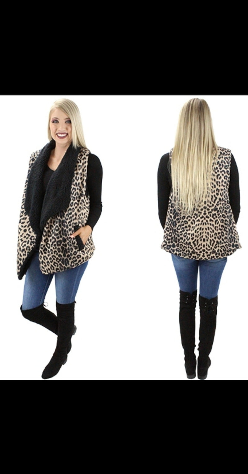 Park Valley Leopard Vest - Also in Plus Size