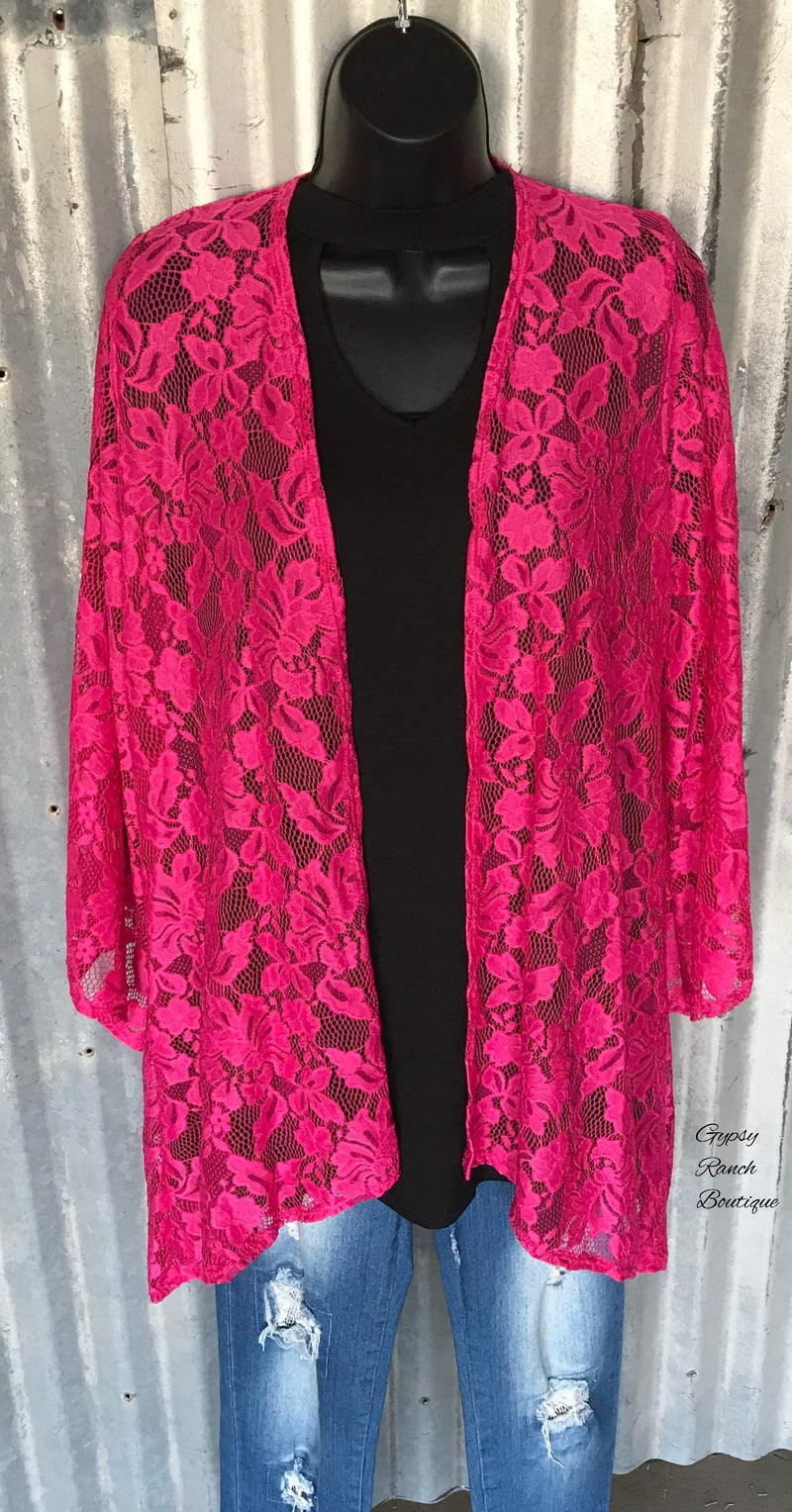 Tinsley Lace Detail Kimono - Also in Plus Size