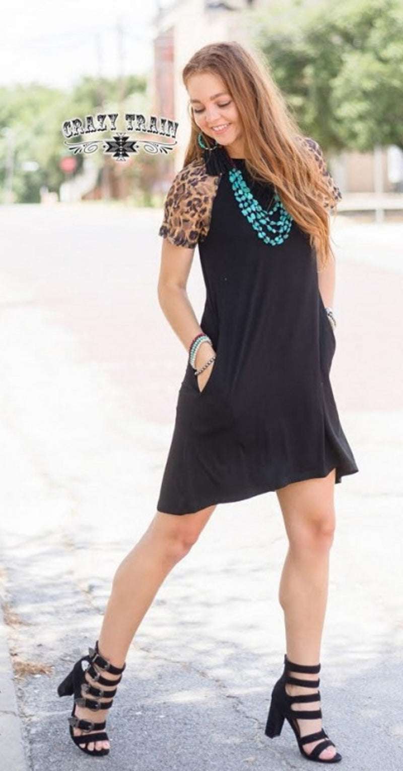 Collin Leopard Tunic Dress -Also in Plus Size