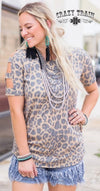 Sweet Peek Leopard Top - Also in Plus Size