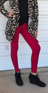 Kids Butter Soft burgundy  Leggings