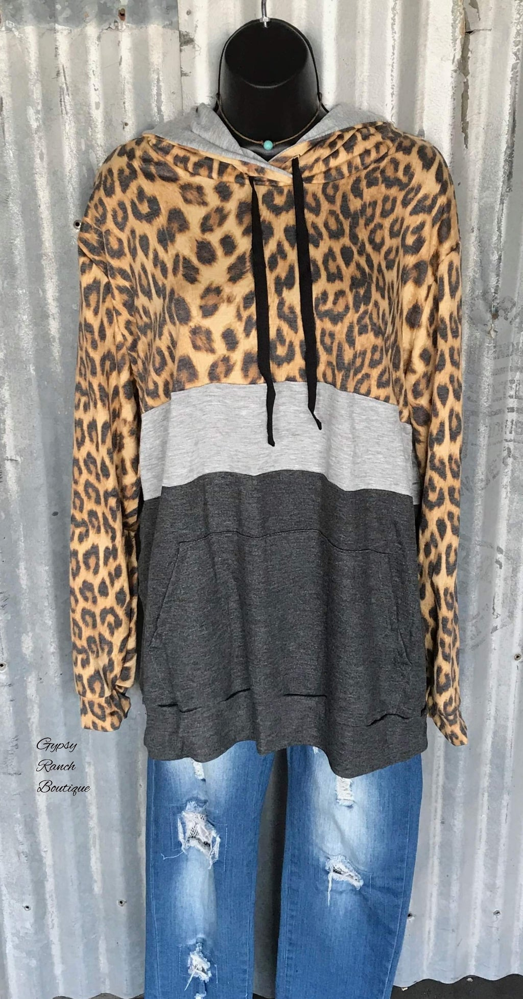 Ashton Leopard Hoodie - Also in Plus Size