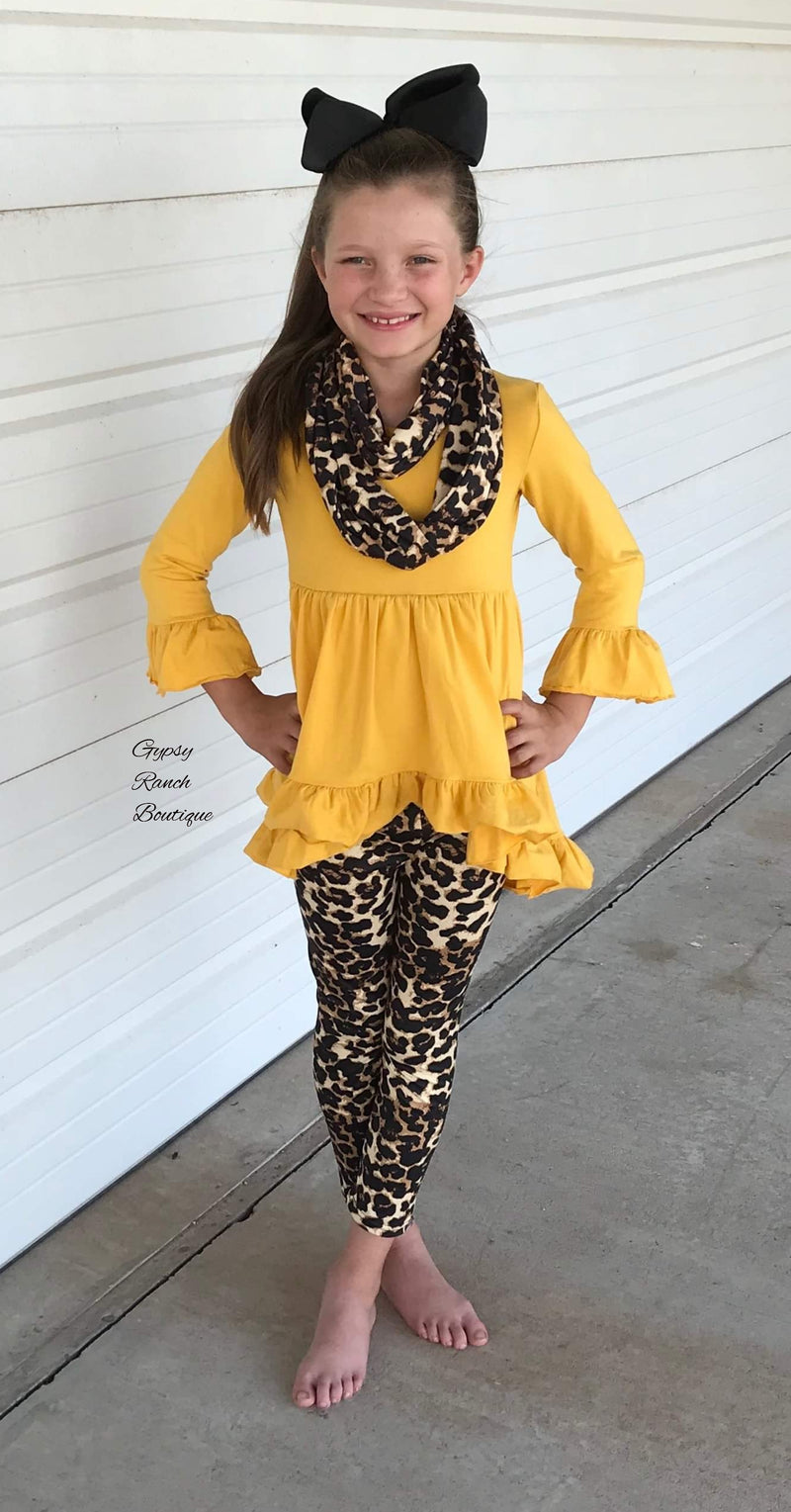 Adlyn Mustard Leopard 3 piece set