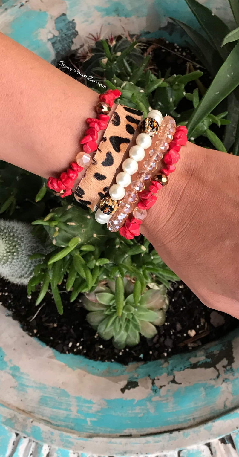 Jolee Red Leopard Collection Bracelet