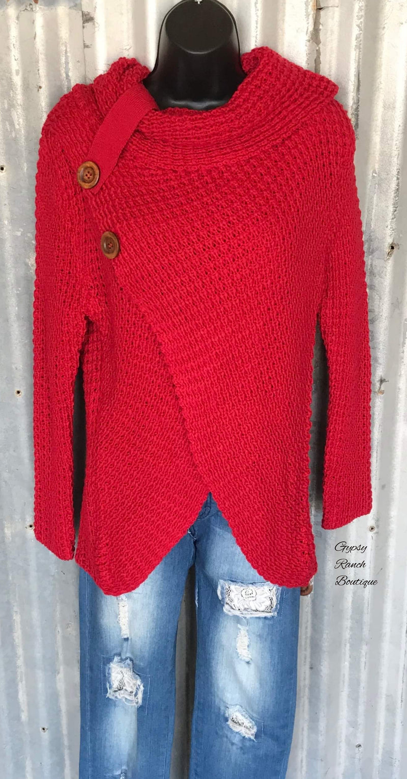 Cozy My Way Red Sweater