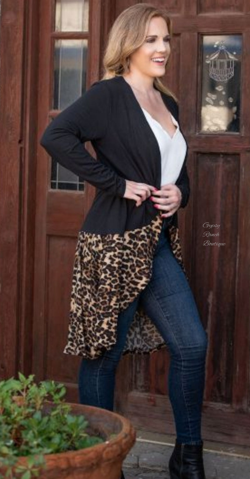 Are you Kitten Me Leopard Kimono Caridgan - Also in Plus Size