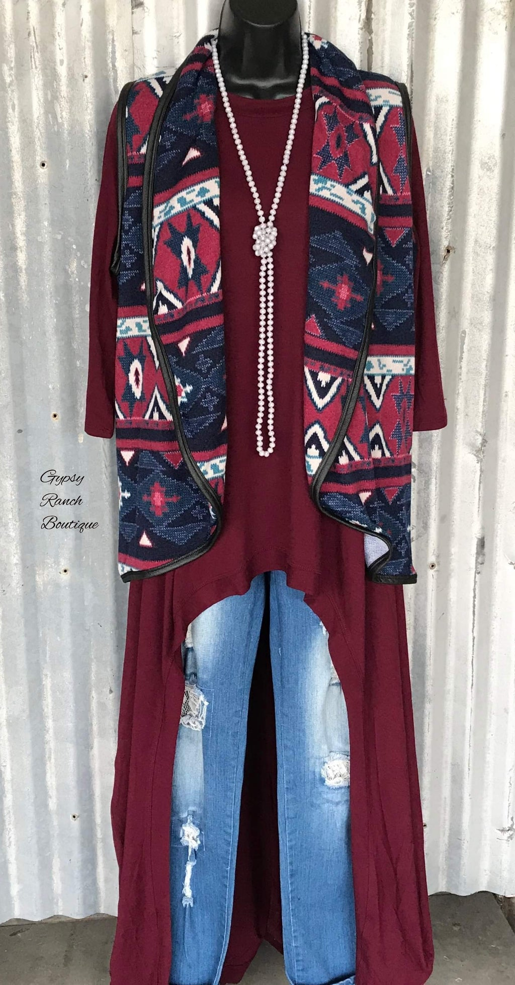 Gemma Tribal Vest - Also in Plus Size