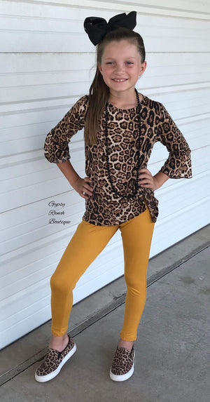 Kids Knot for Long Leopard Top