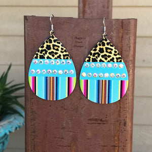 McBride Serape Leopard Earrings