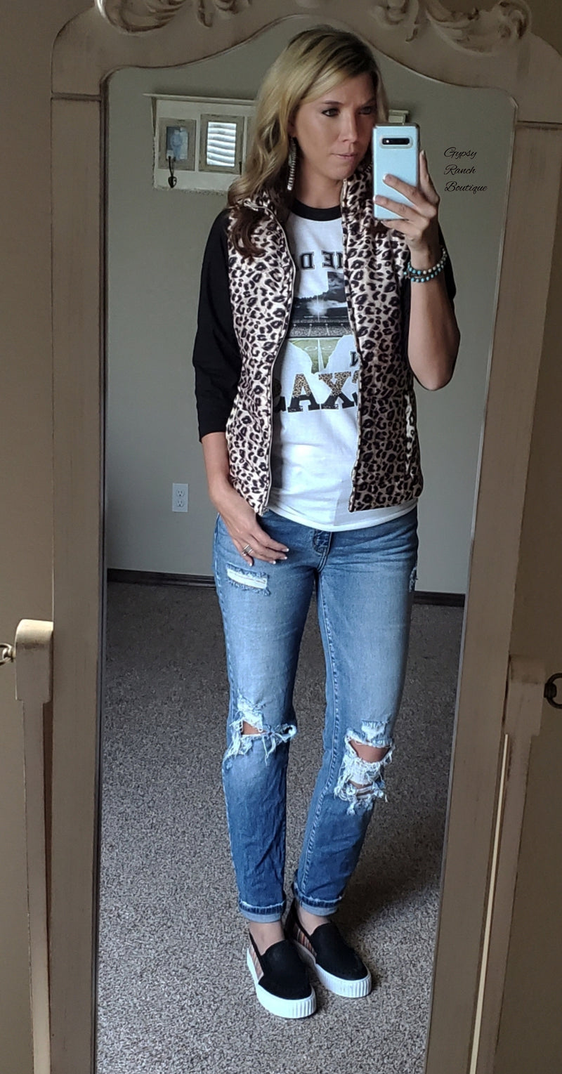 Wild One Leopard Vest - Also in Plus Size
