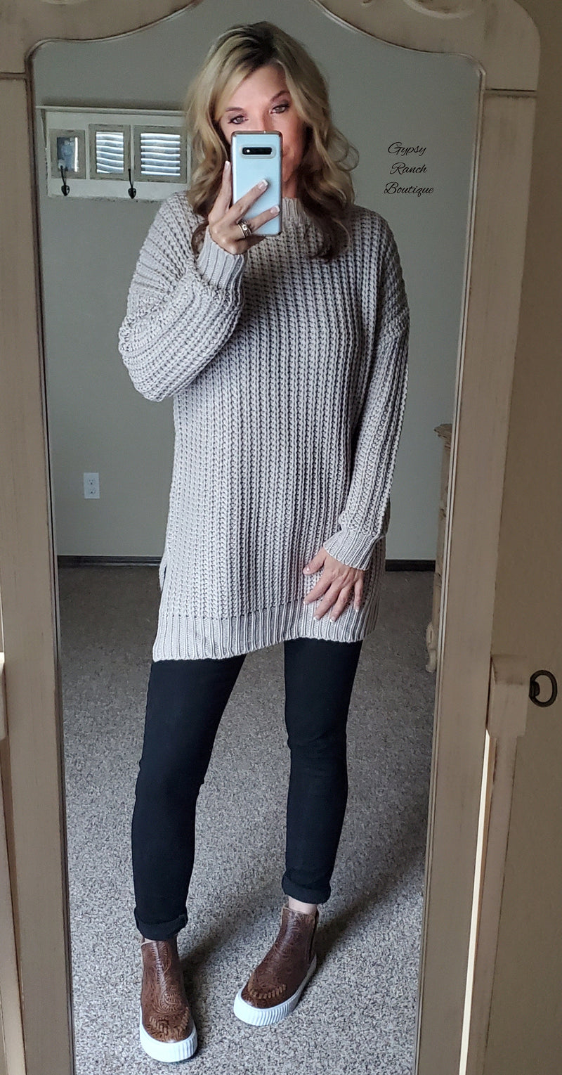 Ash Grey Sweater