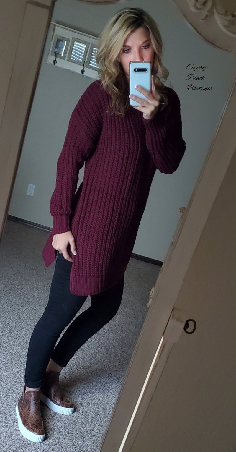 Porter Wine Sweater