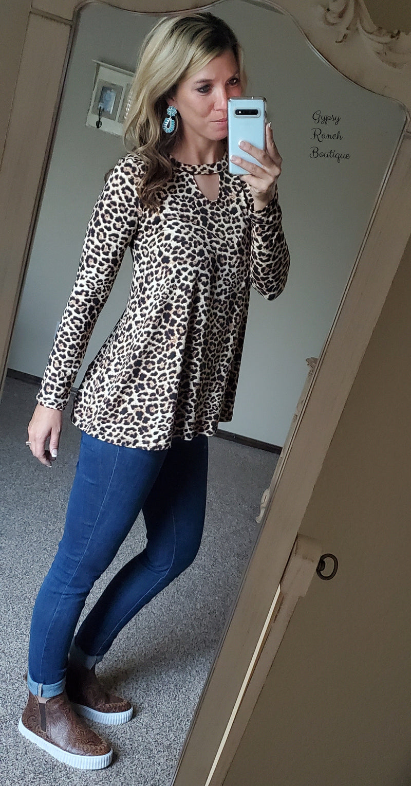 Old Dominion Leopard Top - Also in Plus Size