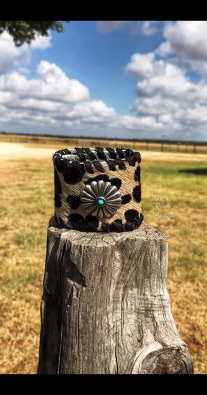 The Sunny Leopard Concho Cuff Bracelet