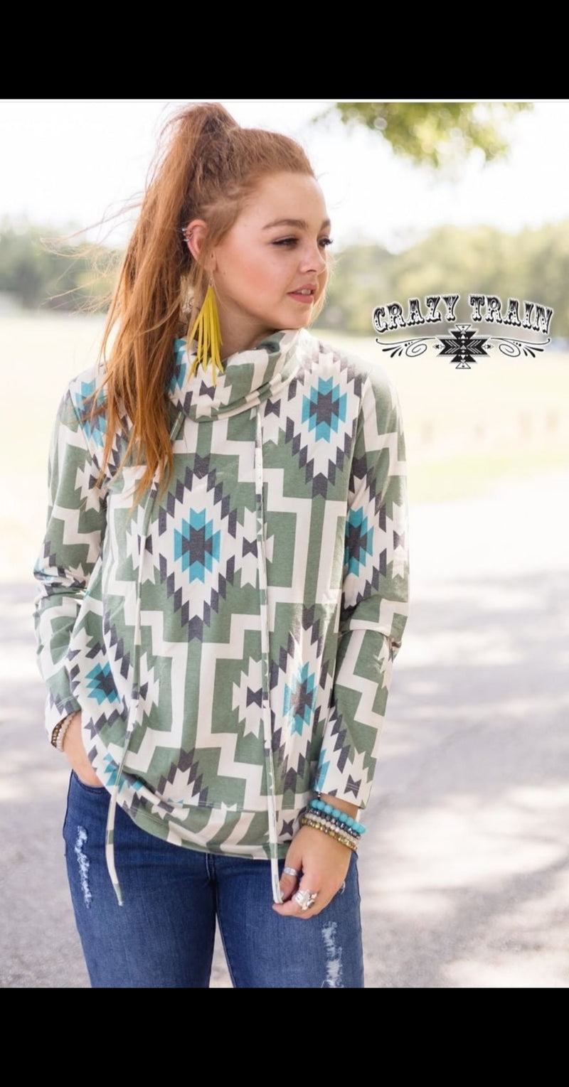 Hang Ten Aztec Pullover Top - Also in Plus Size
