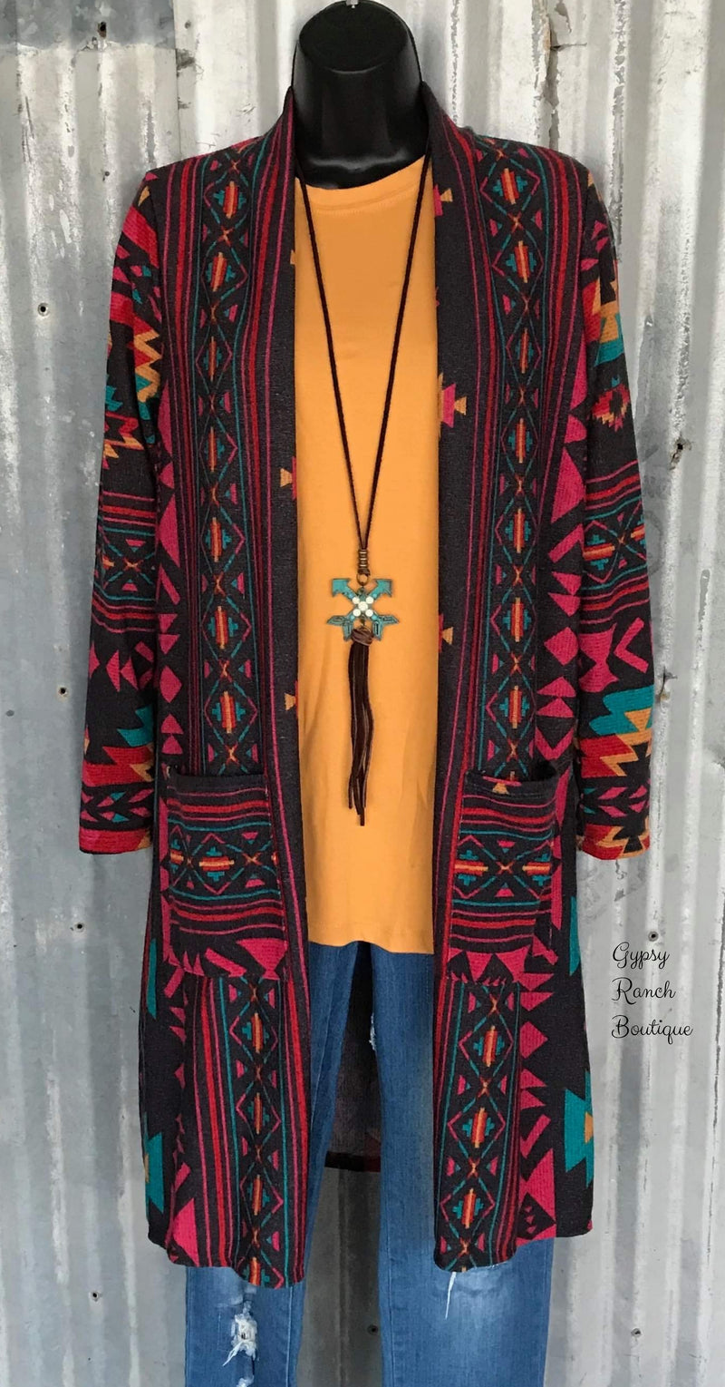 Chandler Tribal Cardigan  - Also in Plus Size