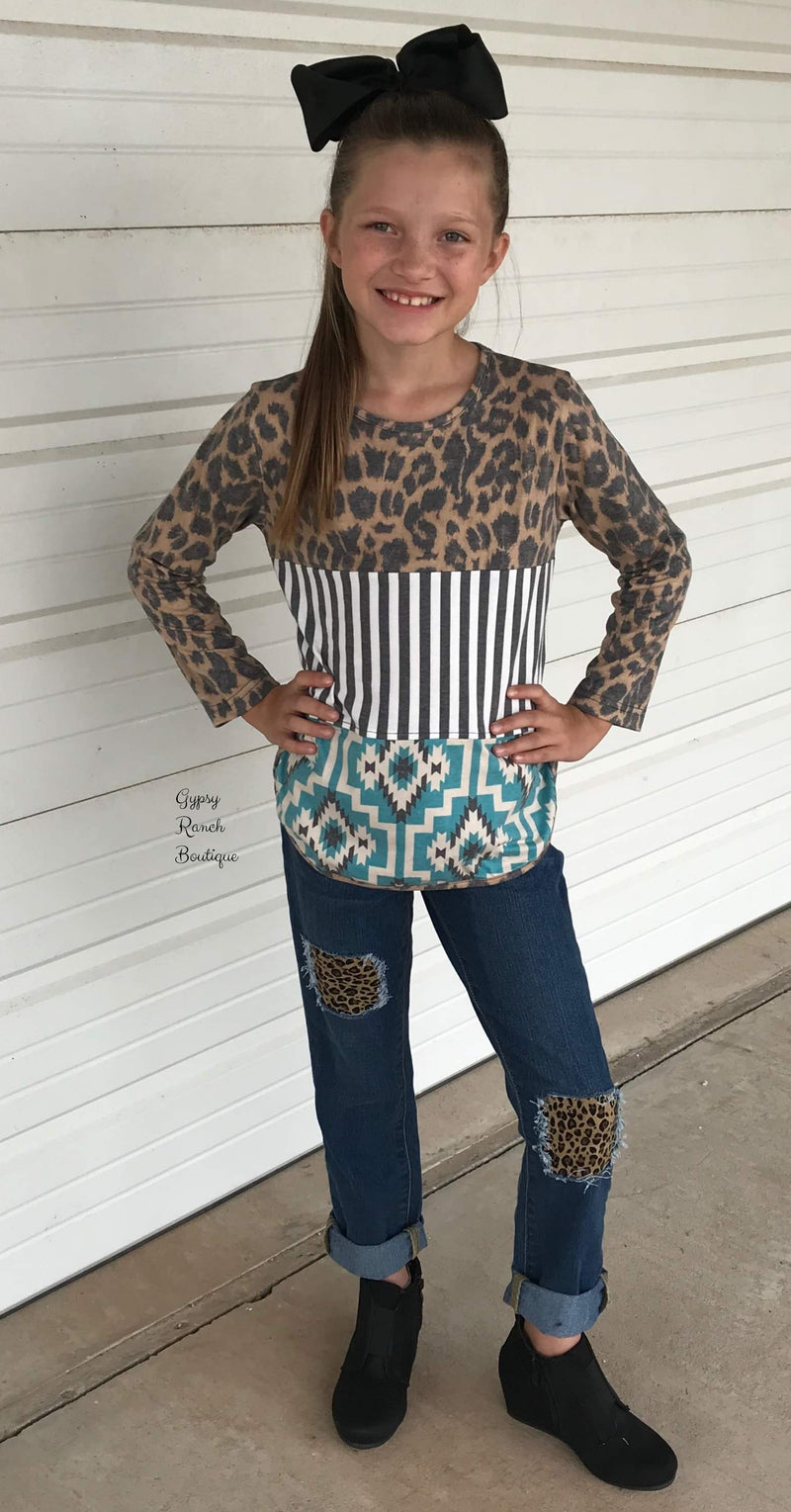 Kids Tres Perfection Leopard Top